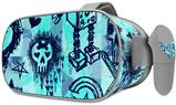 Decal style Skin Wrap compatible with Oculus Go Headset - Scene Kid Sketches Blue (OCULUS NOT INCLUDED)