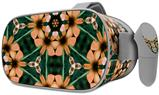 Decal style Skin Wrap compatible with Oculus Go Headset - Floral Pattern Orange (OCULUS NOT INCLUDED)
