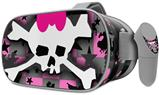 Decal style Skin Wrap compatible with Oculus Go Headset - Pink Bow Skull (OCULUS NOT INCLUDED)