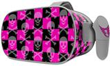 Decal style Skin Wrap compatible with Oculus Go Headset - Skull and Crossbones Checkerboard (OCULUS NOT INCLUDED)