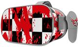 Decal style Skin Wrap compatible with Oculus Go Headset - Checkerboard Splatter (OCULUS NOT INCLUDED)