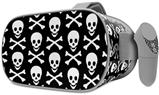 Decal style Skin Wrap compatible with Oculus Go Headset - Skull and Crossbones Pattern (OCULUS NOT INCLUDED)