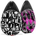 Skin Decal Wrap 2 Pack compatible with Suorin Drop Punk Rock VAPE NOT INCLUDED