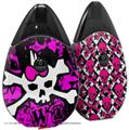 Skin Decal Wrap 2 Pack compatible with Suorin Drop Punk Skull Princess VAPE NOT INCLUDED