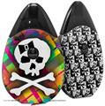 Skin Decal Wrap 2 Pack compatible with Suorin Drop Rainbow Plaid Skull VAPE NOT INCLUDED