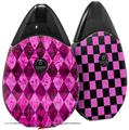 Skin Decal Wrap 2 Pack compatible with Suorin Drop Pink Diamond VAPE NOT INCLUDED