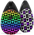 Skin Decal Wrap 2 Pack compatible with Suorin Drop Love Heart Checkers Rainbow VAPE NOT INCLUDED