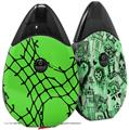Skin Decal Wrap 2 Pack compatible with Suorin Drop Ripped Fishnets Green VAPE NOT INCLUDED