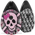 Skin Decal Wrap 2 Pack compatible with Suorin Drop Pink Skull VAPE NOT INCLUDED