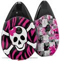 Skin Decal Wrap 2 Pack compatible with Suorin Drop Pink Zebra Skull VAPE NOT INCLUDED