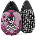 Skin Decal Wrap 2 Pack compatible with Suorin Drop Princess Skull Heart Pink VAPE NOT INCLUDED