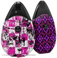 Skin Decal Wrap 2 Pack compatible with Suorin Drop Pink Graffiti VAPE NOT INCLUDED