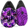 Skin Decal Wrap 2 Pack compatible with Suorin Drop Purple Graffiti VAPE NOT INCLUDED