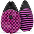 Skin Decal Wrap 2 Pack compatible with Suorin Drop Pink Checkerboard Sketches VAPE NOT INCLUDED
