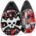 Skin Decal Wrap 2 Pack compatible with Suorin Drop Punk Rock Skull VAPE NOT INCLUDED