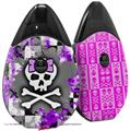 Skin Decal Wrap 2 Pack compatible with Suorin Drop Purple Princess Skull VAPE NOT INCLUDED