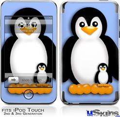 iPod Touch 2G & 3G Skin - Penguins on Blue