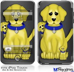 iPod Touch 2G & 3G Skin - Puppy Dogs on Black