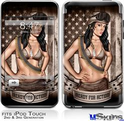 iPod Touch 2G & 3G Skin - Ready For Action Pin Up Girl