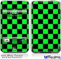 iPod Touch 2G & 3G Skin - Checkers Green
