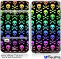 iPod Touch 2G & 3G Skin - Skull and Crossbones Rainbow