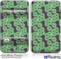 iPod Touch 2G & 3G Skin - Locknodes 02 Green