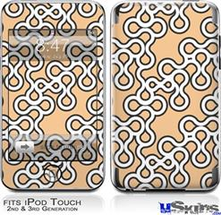iPod Touch 2G & 3G Skin - Locknodes 03 Peach