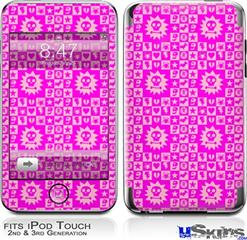 iPod Touch 2G & 3G Skin - Gothic Punk Pattern Pink