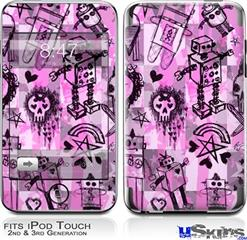 iPod Touch 2G & 3G Skin - Scene Kid Sketches Pink
