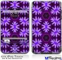 iPod Touch 2G & 3G Skin - Abstract Floral Purple
