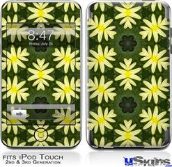 iPod Touch 2G & 3G Skin - Abstract Floral Yellow