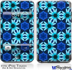 iPod Touch 2G & 3G Skin - Daisies Blue