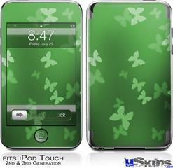iPod Touch 2G & 3G Skin - Bokeh Butterflies Green