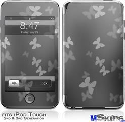 iPod Touch 2G & 3G Skin - Bokeh Butterflies Grey