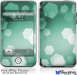 iPod Touch 2G & 3G Skin - Bokeh Hex Seafoam Green