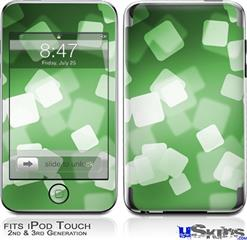 iPod Touch 2G & 3G Skin - Bokeh Squared Green
