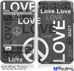 iPod Touch 2G & 3G Skin - Love and Peace Gray
