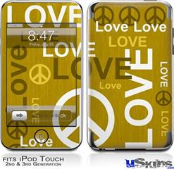 iPod Touch 2G & 3G Skin - Love and Peace Yellow