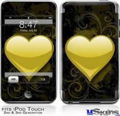 iPod Touch 2G & 3G Skin - Glass Heart Grunge Yellow