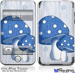 iPod Touch 2G & 3G Skin - Mushrooms Blue