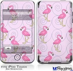 iPod Touch 2G & 3G Skin - Flamingos on Pink