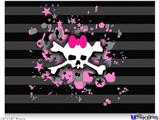 "Poster 24""x18"" - Pink Bow Skull"