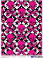 "Poster 18""x24"" - Pink Skulls and Stars"