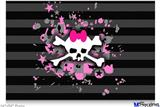 "Poster 36""x24"" - Pink Bow Skull"