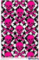 "Poster 24""x36"" - Pink Skulls and Stars"
