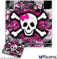 Sony PS3 Slim Skin - Splatter Girly Skull