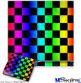 Sony PS3 Slim Skin - Rainbow Checkerboard