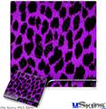 Sony PS3 Slim Skin - Purple Leopard