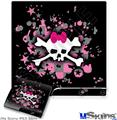 Sony PS3 Slim Decal Style Skin - Scene Skull Splatter