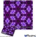 Sony PS3 Slim Decal Style Skin - Abstract Floral Purple